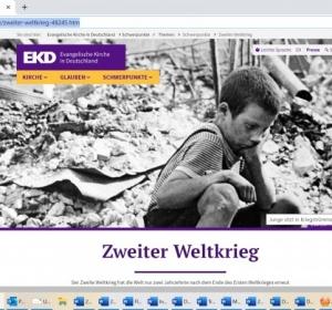 EKD-Online: Themenseiten Zweiter Weltkrieg